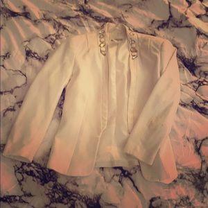 White H&M jeweled blazer